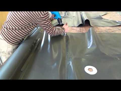 лодка из пвх своими руками часть2 Boat made of PVC with his own hands