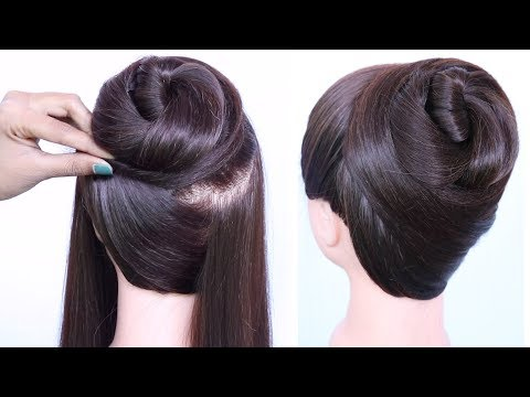 New Latest Bun Hairstyle With Trick    Cute Hairstyles    Easy Hairstyles    Hairstyles For Girls