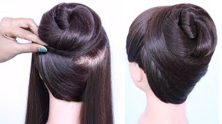 new latest bun hairstyle with trick || cute hairstyles || easy hairstyles || hairstyles for girls