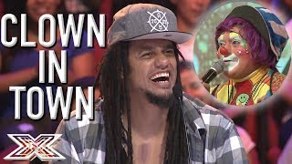 FUNNY Clown Auditions For X Factor Bolivia With Voices of Cartoon Characters | X Factor Global