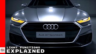 2019 Audi A7 Light Functions Explained