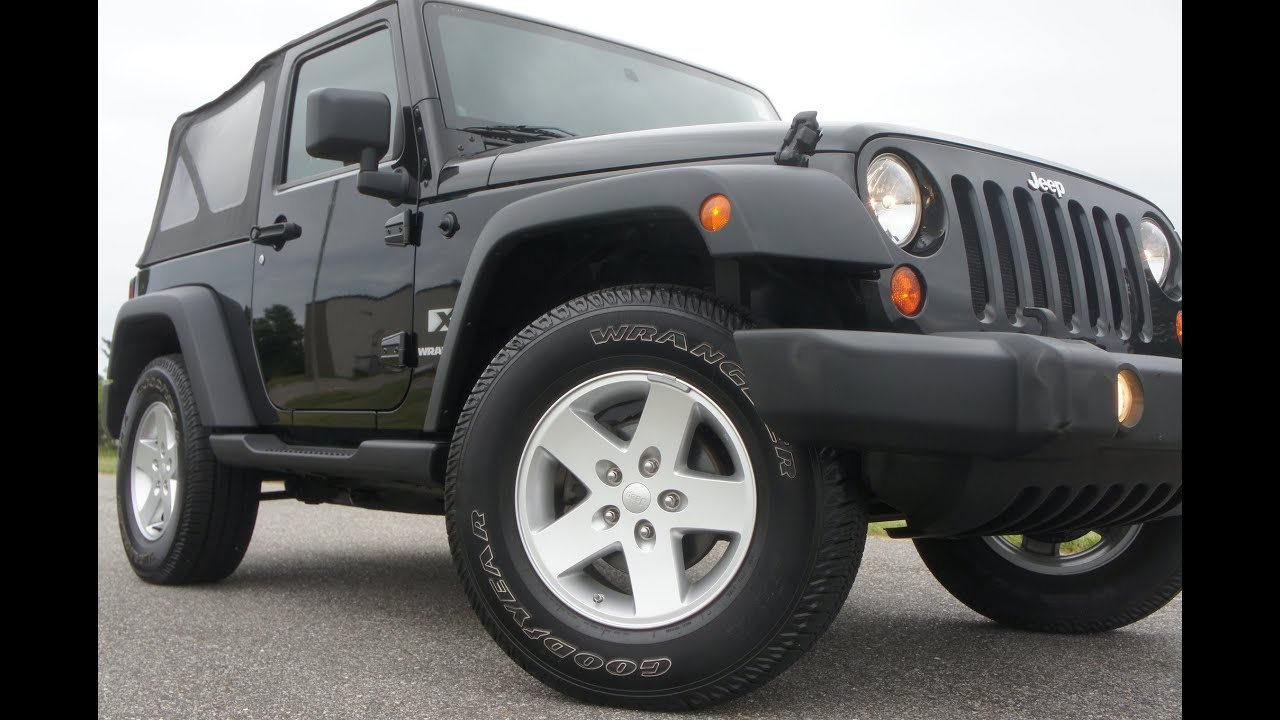 2009 jeep wrangler x for ~3.8l motor~automatic~black~salvage