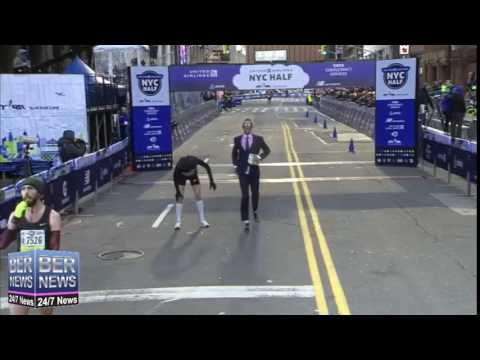 Chris Estwanik Sets World Record For Running In Suit, March 19 2017