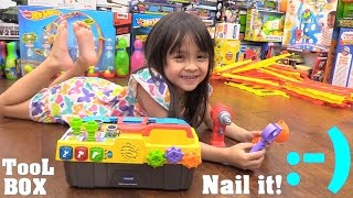Educational Toys for Toddlers: Learn Colors and Numbers. Vtech Drill & Learn Toolbox Unboxing