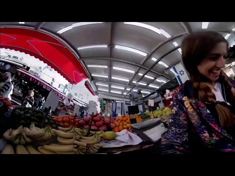 Go shopping at the Shuk (market) with Reny