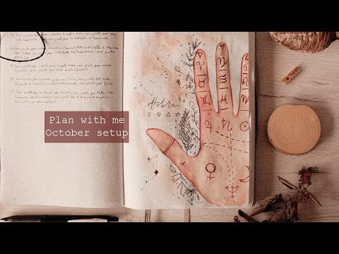 Plan with me • October 2019 Bullet Journal setup ✨ Bujo monthly spread • frai.oh