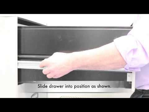 How to remove a filing cabinet drawer - YouTube