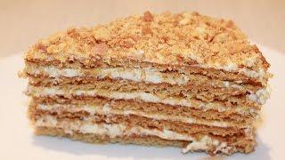 медовый торт с заварным кремом рецепт торта  Готовим Просто и Вкусно