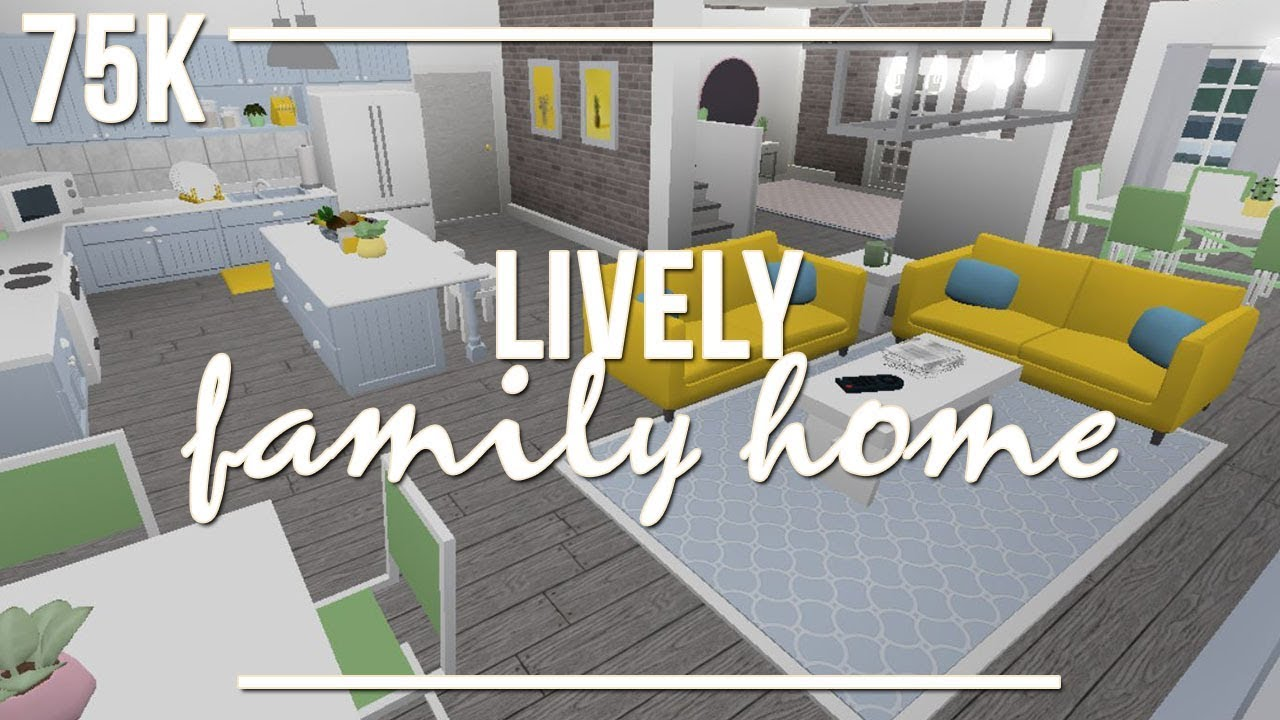 Welcome To Bloxburg: Lively Family Home 75k - YouTube