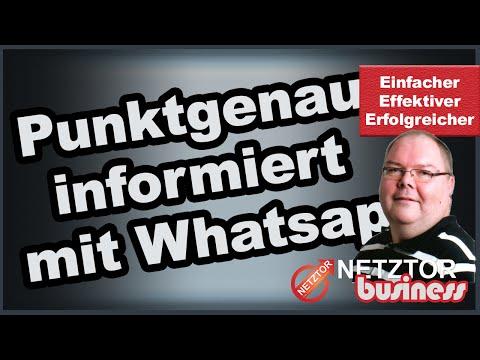 Info WhatsApp Gruppe für aktuelle Live-Events Webinare Meetings völlig kostenfrei von | NETZTOR