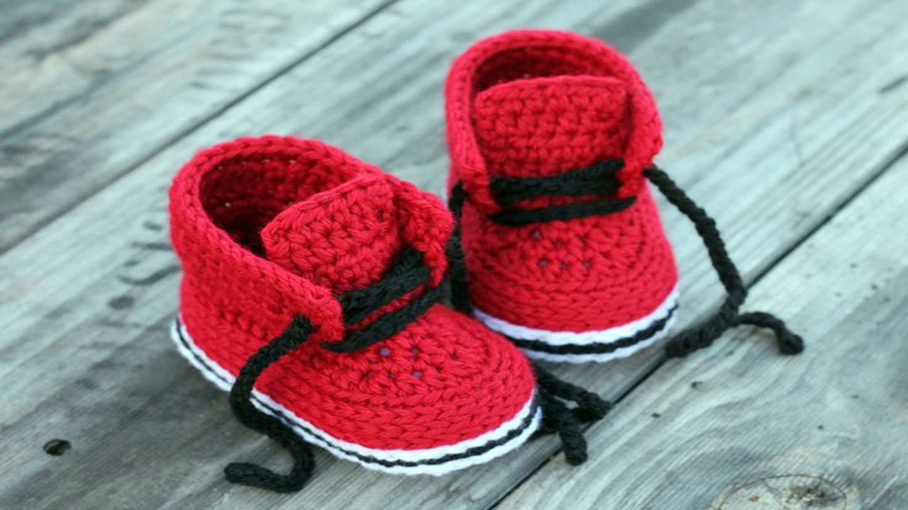 3366478638f Crochet Baby Shoes Tutorial For Newborn ᴴᴰ ·▭· · ··· - YouTube
