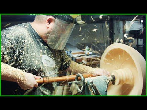 Woodturning Gigantic Pine Burl Bowl