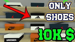 Reaching 10k Cash With ONLY Shoes | ROBLOX Retail Tycoon