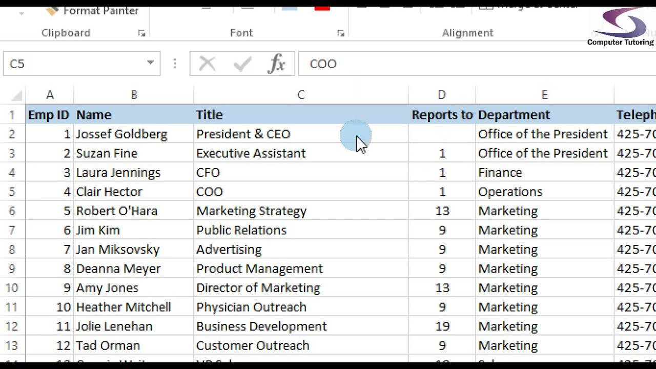 Create Organization Chart in Visio 2010 from Excel Spreadhsheet