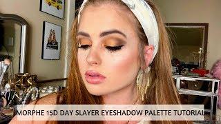 "MORPHE 15D DAY SLAYER EYESHADOW PALETTE TUTORIAL   Orange ""smokey"" eyeshadow look"