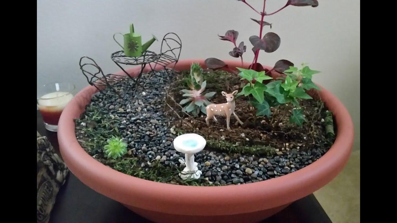 Amazing Fairy Garden Fountain Tutorial   YouTube