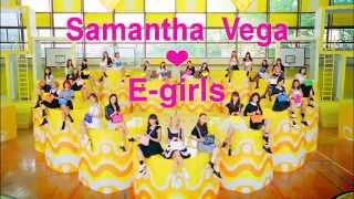 Samantha Vega meets E-girls TV CM 「Highschool?love」