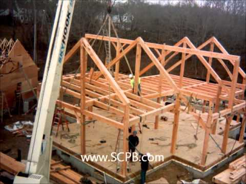 timber frame and sips raising - youtube