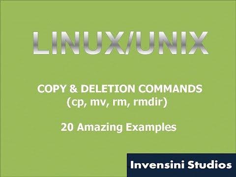 Linux Basic Copy & Deletion Commands