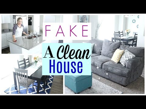 How to FAKE a Clean House| How to CLEAN FAST!