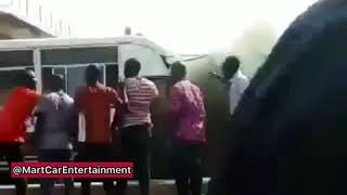 [BREAKING NEWS] University of mines and technology bus catches fire.