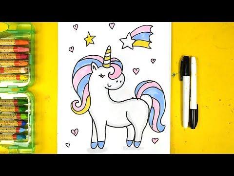 Как нарисовать ЕДИНОРОГА маркерами для детей