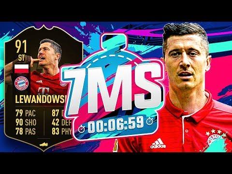 *NEW RULE* 91 INFORM LEWANDOWSKI 7 MINUTE SQUAD BUILDER VS ANDY!!! - FIFA 19 ULTIMATE TEAM
