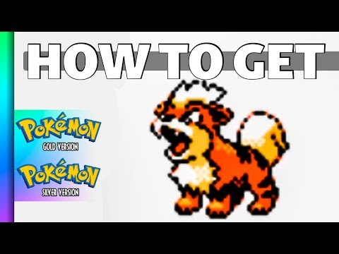 HOW TO GET Growlithe In Pokemon Gold And Silver