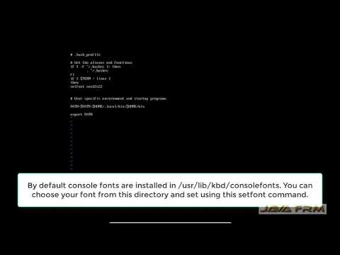 CentOS 7 Tutorial - How To Change The Font And Fontsize In Terminal
