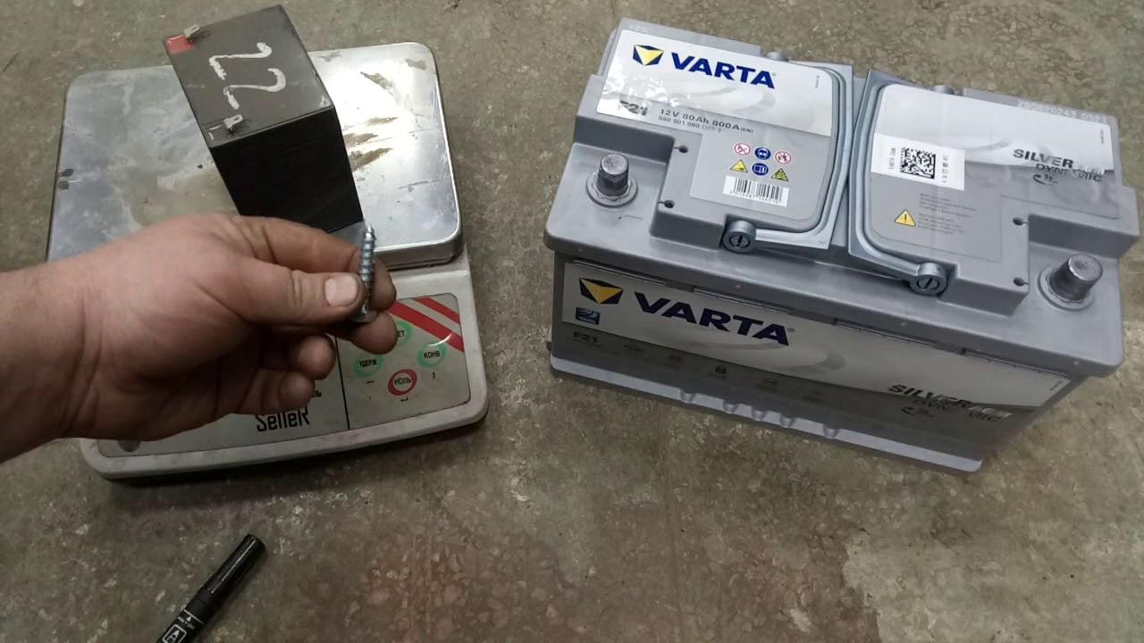 VARTA AGM silver dynamic Ввод в эксплуатацию. Долив воды. Тонкости заряда.