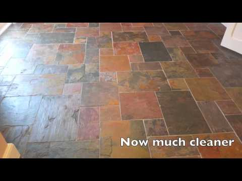 Slate Floor Cleaning   YouTube