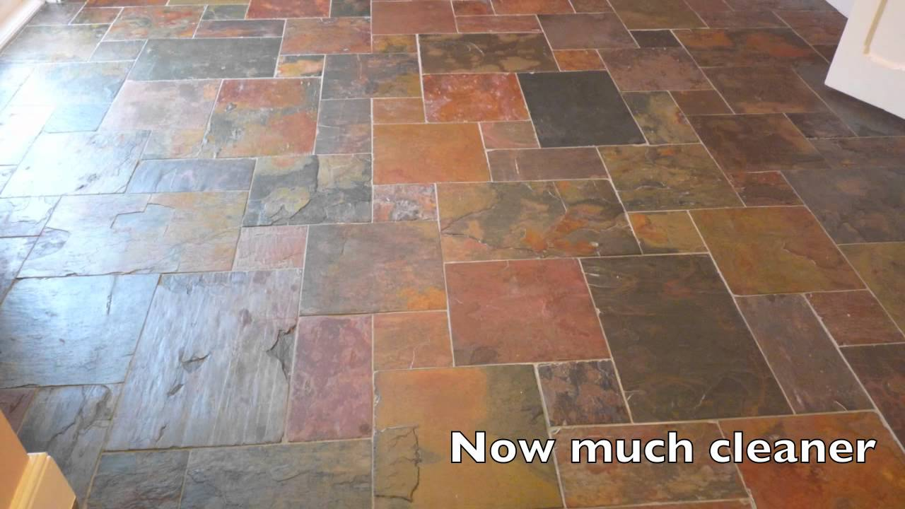 Slate Floor Cleaning Youtube