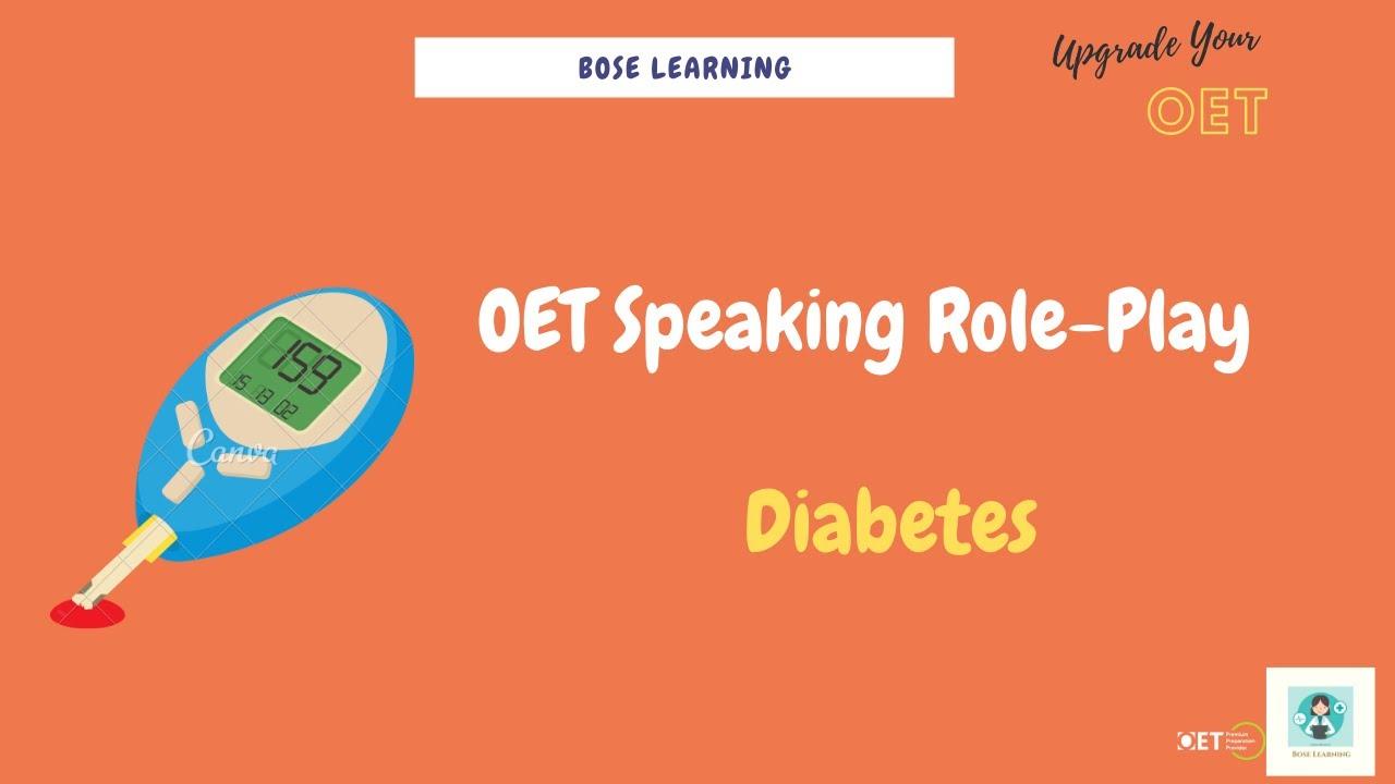 OET Speaking Role-Play: Diabetes