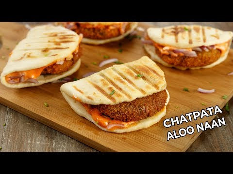 Chatpata Aloo Naan Recipe Mcdonalds Restaurant Style CookingShooking