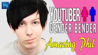 YOUTUBER GENDER BENDER ► AmazingPhil as a woman?!