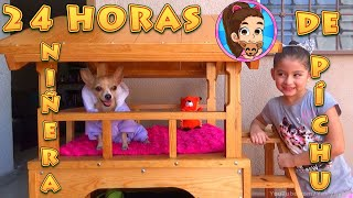 24 HORAS NIÑERA DE MI PERRITA PÍCHU | MY CHIHUAHUA DOG | RETO | CHALLENGE