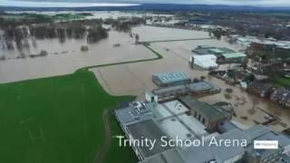 FailLeak Drone Footage Shows Carlisle Floods From the Air