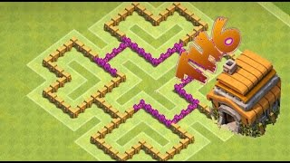 Clash Of Clans Town Hall 6 Hybrid Base 2 Air Defenses And Air Sweeper New Update 2016