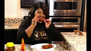 Waffle Fried Chicken - ASMR EATING Fried Chicken - I Heart Recipes