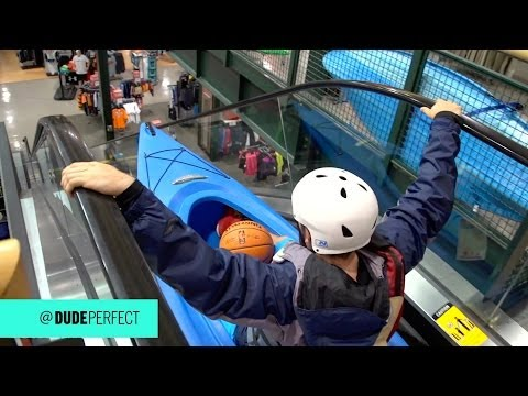 Thumbnail: Kayaking Down an Escalator