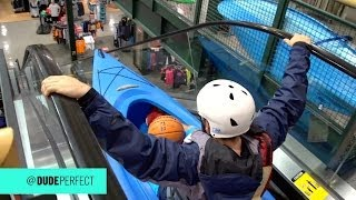 Kayaking Down an Escalator(Basketball, Golf, Kayaks, Soccer... and Ryan Tannehill? Game on. ---------------------------------------- ▻ PLAY our iPHONE GAME - http://smarturl.it/DPGameiPhone ..., 2013-12-02T14:56:19.000Z)