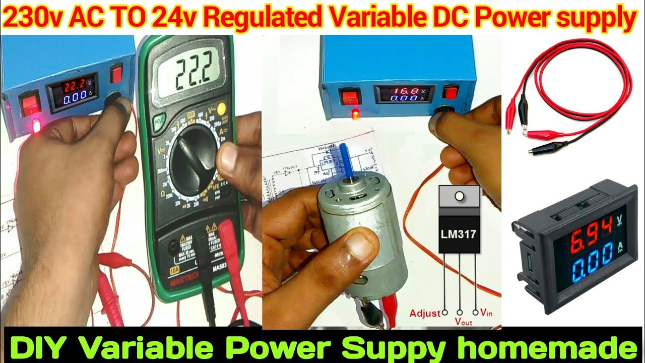 Variable Power Supply 0v 24v Lm317 Home Made Circuit Cheapest