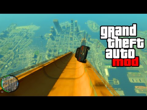 """HUGE RAMP EXPLOSION MOD!"" - GTA Mods & Crazy Stunts! (GTA IV MODDING)"