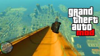 """HUGE RAMP EXPLOSION MOD!"" - GTA Mods & Crazy Stunts! (GTA IV MODDING)"