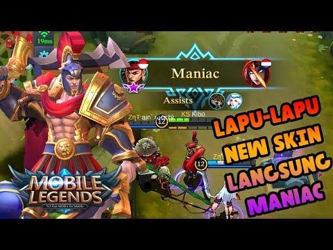SKIN BARU LAPU-LAPU !! ABIS MANIAC, MUSUH LANGSUNG SURRENDER !! - MLBB INDONESIA !!