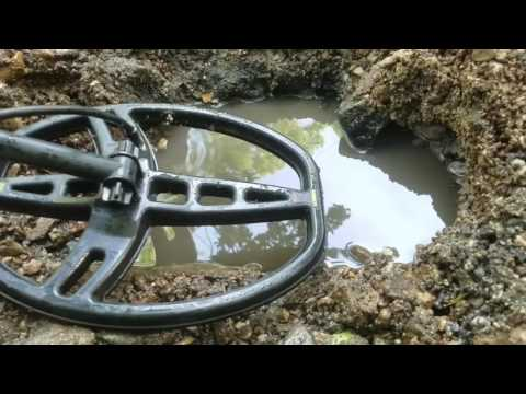 Creek walking in Missouri - Metal detecting day, Garrett Ace 350, Railroad stuff, Musk rat (3 of 3)