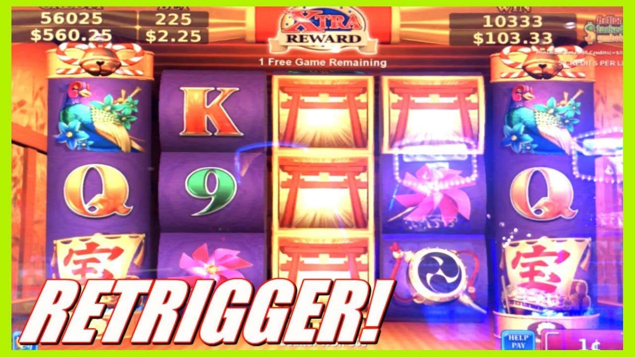 Retrigger On Konami Inari Ritches Big Symbol Slot Bonus Wins