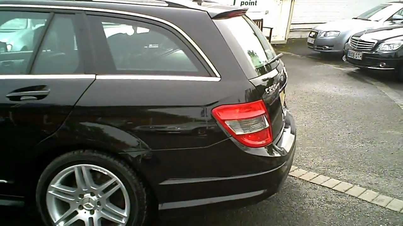 2009 mercedes c200 cdi amg sport estate black auto diesel youtube. Black Bedroom Furniture Sets. Home Design Ideas