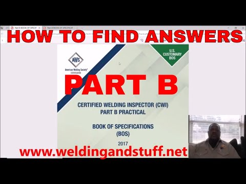 CWI 40 -  HOW TO PASS THE PART B CWI EXAM; SEE SAMPLE QUESTIONS AND HOW TO FIND ANSWERS