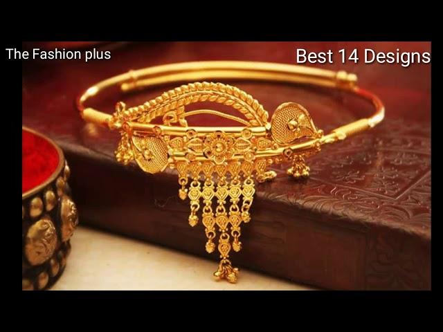 Gold Bracelet   Gold Bajuband  Gold Bangles  Gold Mantasha  Designs